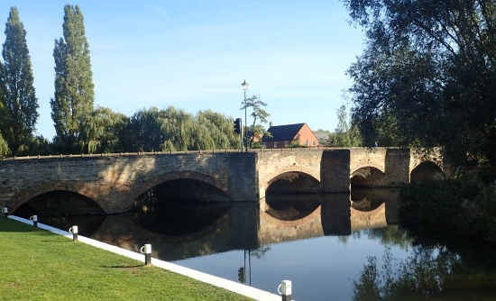 River Nene bridge - the starting point of the route